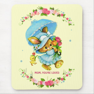 Mom, You're Loved. Mother's Day Gift Mousepads