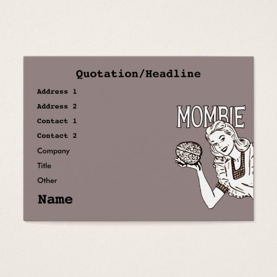 Mombie Retro Zombie Business Card