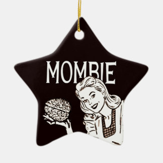 Mombie Retro Zombie Ceramic Star Decoration