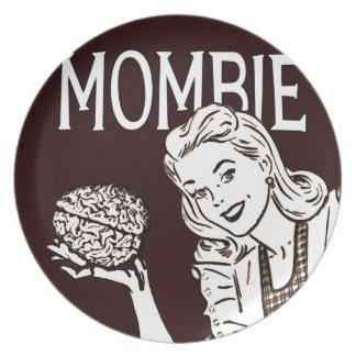 Mombie Retro Zombie Mom Party Plates
