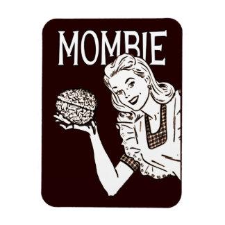 Mombie Retro Zombie Mom Rectangular Photo Magnet