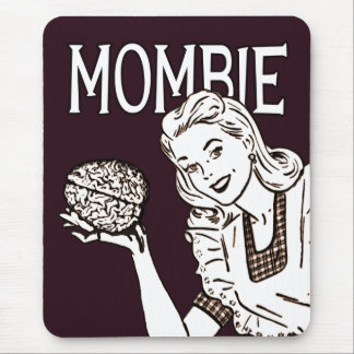 Mombie Retro Zombie Mouse Pads