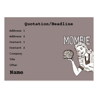 Mombie Retro Zombie Pack Of Chubby Business Cards