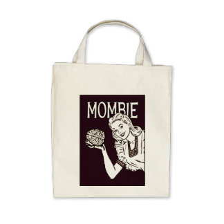 Mombie Retro Zombie Tote Bags