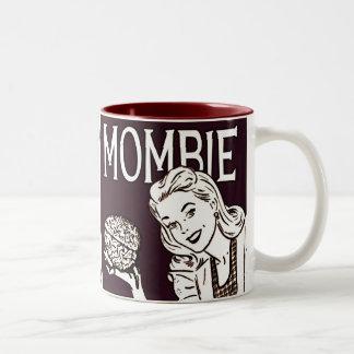 Mombie Retro Zombie Two-Tone Mug
