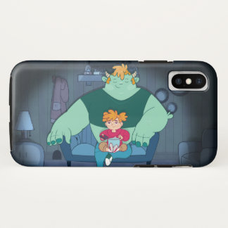 Mombou and Petunia watch TV iPhone X Case