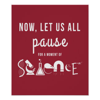 Moment of Science Red Poster