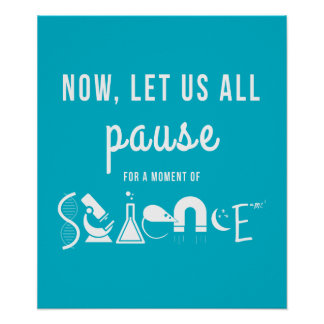 Moment of Science Teal Poster