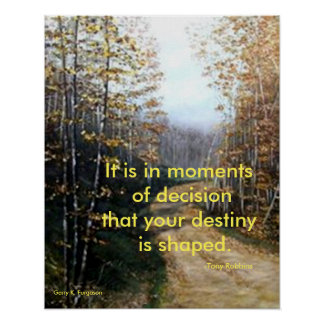 MOMENTS OF DECISION TONY ROBBINS POSTER