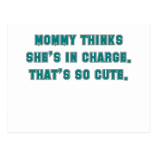 momm thinks shes in charge thats so cute blue.png postcard