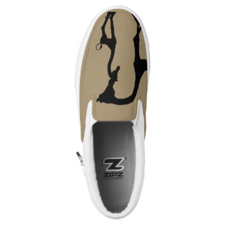 Momma and Baby African Giraffe Slip On Sneaker Printed Shoes