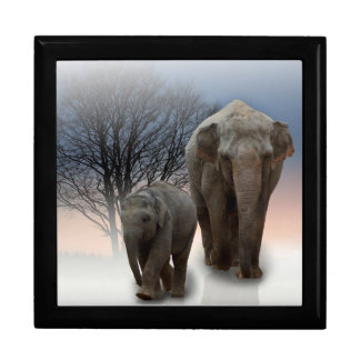Momma and Baby Elephant Gift Box
