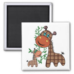 Momma and Baby Giraffe with Tree Magnets