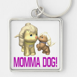 Momma Dog Key Chain