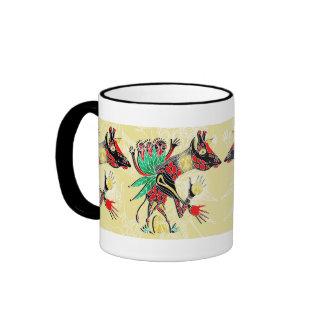 momma giraffe ringer coffee mug