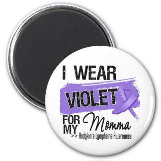 Momma Hodgkins Lymphoma Ribbon Fridge Magnet