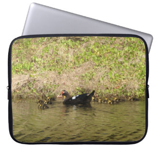 Momma Muscovy and Baby Ducks Laptop Sleeves