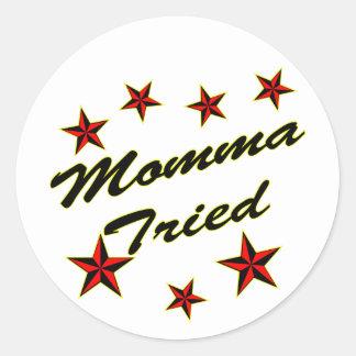 Momma Tried w Stars Stickers