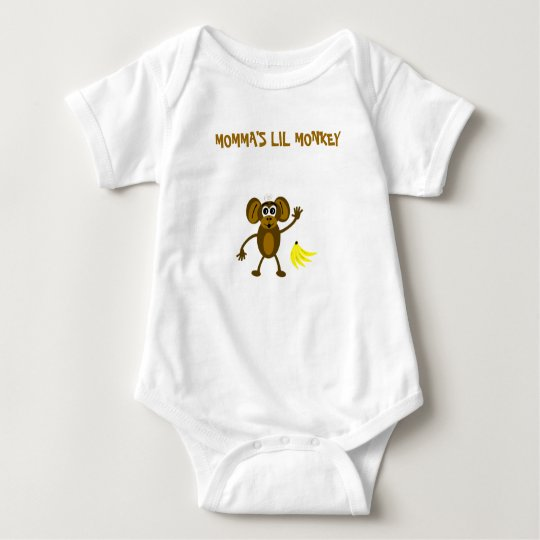 Momma's Lil Monkey Baby Bodysuit