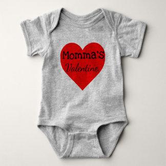 momma's little valentine baby bodysuit