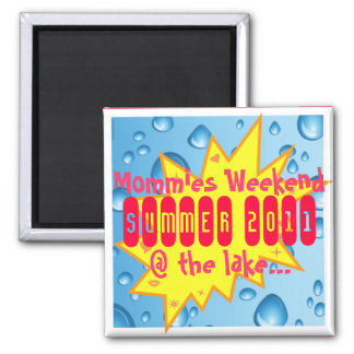 Mommies Summer Getaway Square Magnet