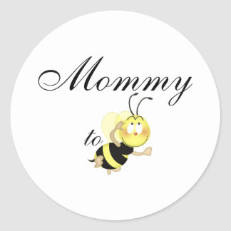 Mommy 2 be classic round sticker
