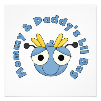 Mommy and Daddy s Lil Bug Custom Announcements