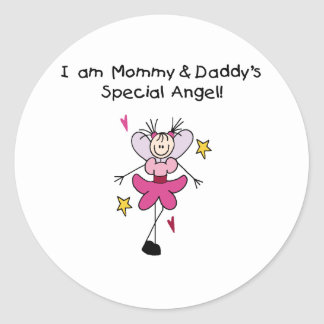 Mommy and Daddy's Special Angel Classic Round Sticker