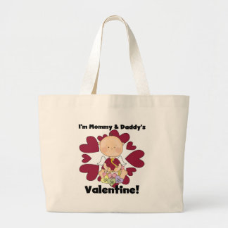 Mommy and Daddy's Valentine- Boy Cupid Jumbo Tote Bag