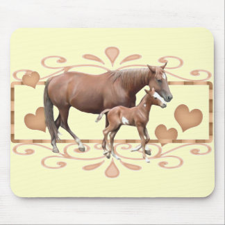 Mommy And Foal Mouse Pad