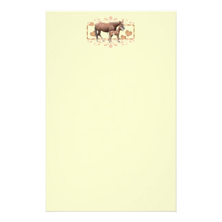 Mommy And Foal Personalized Stationery