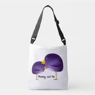 Mommy and Me Purple Birds Baby Tote Bag