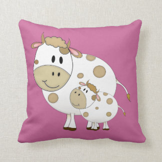 Mommy & Baby Cow Throw Cushions