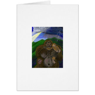 """Mommy Bigfoot"" by Thomas Finley Greeting Card"
