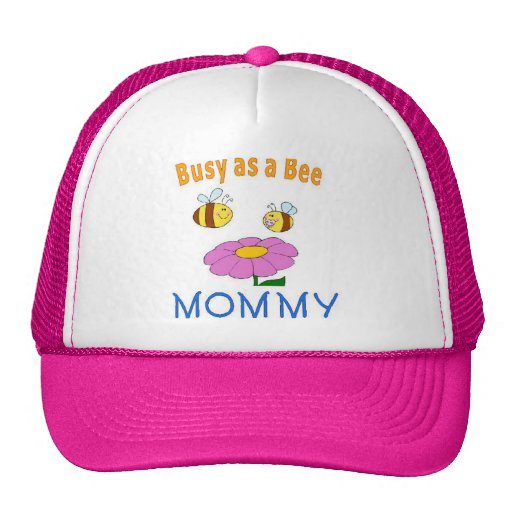 Mommy Busy as a Bee Mesh Hat
