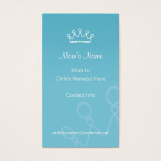 Mommy Calling Card - Blue Crown