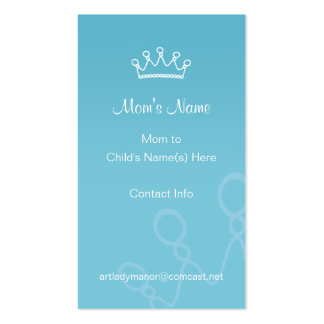 Mommy Calling Card - Blue Crown Pack Of Standard Business Cards