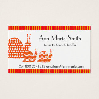 Mommy Calling Card Cute Snails