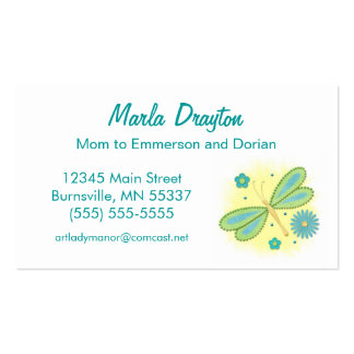 Mommy Calling Card - spring butterfly and flowers Pack Of Standard Business Cards