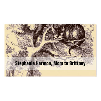 Mommy Calling Cards Cheshire Cat Alice Wonderland Pack Of Standard Business Cards