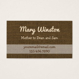 Mommy Calling Cards   Rustic Burlap Sons