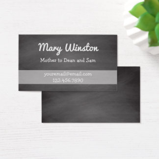Mommy Calling Cards   Rustic Chalkboard