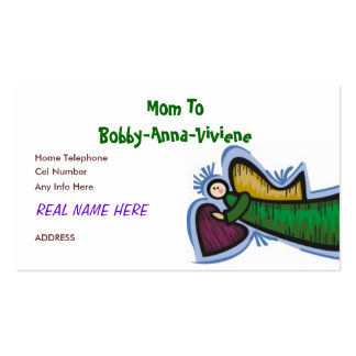 MOMMY CARD #2 PACK OF STANDARD BUSINESS CARDS