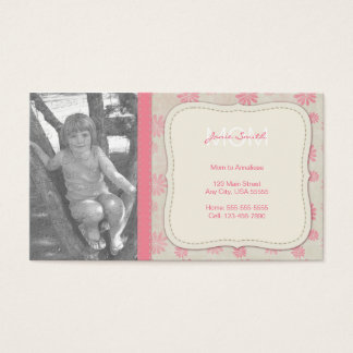 Mommy Custom Photo Calling Card