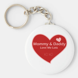 Mommy & Daddy Love Me Lots Key Chains
