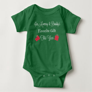 Mommy & Daddy's Favorite Gift Green Bodysuit