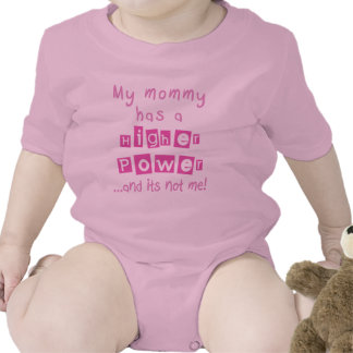 Mommy Has A Higher Power Infant - Pink Romper