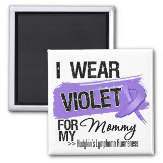 Mommy Hodgkins Lymphoma Ribbon Magnets