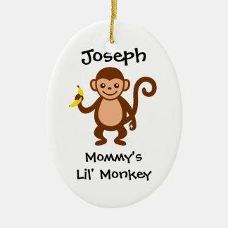 Mommy Lil Monkey Christmas Ornament