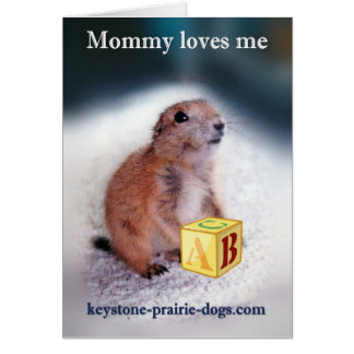 """""""Mommy loves me"""" baby clothes Greeting Card"""